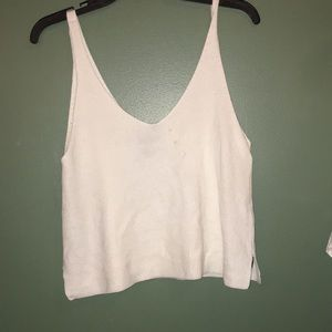 White knit forever 21 crop top